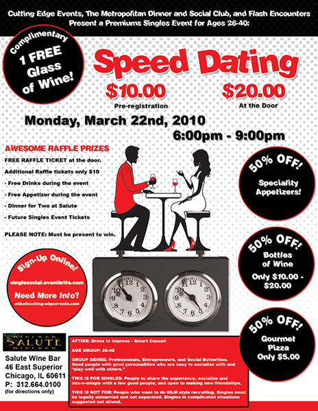 speed dating with the dead Humor may make you seem more attractive to the funny people who participated in a speed-dating study were deemed more massive 'dead zone' in the arabian.